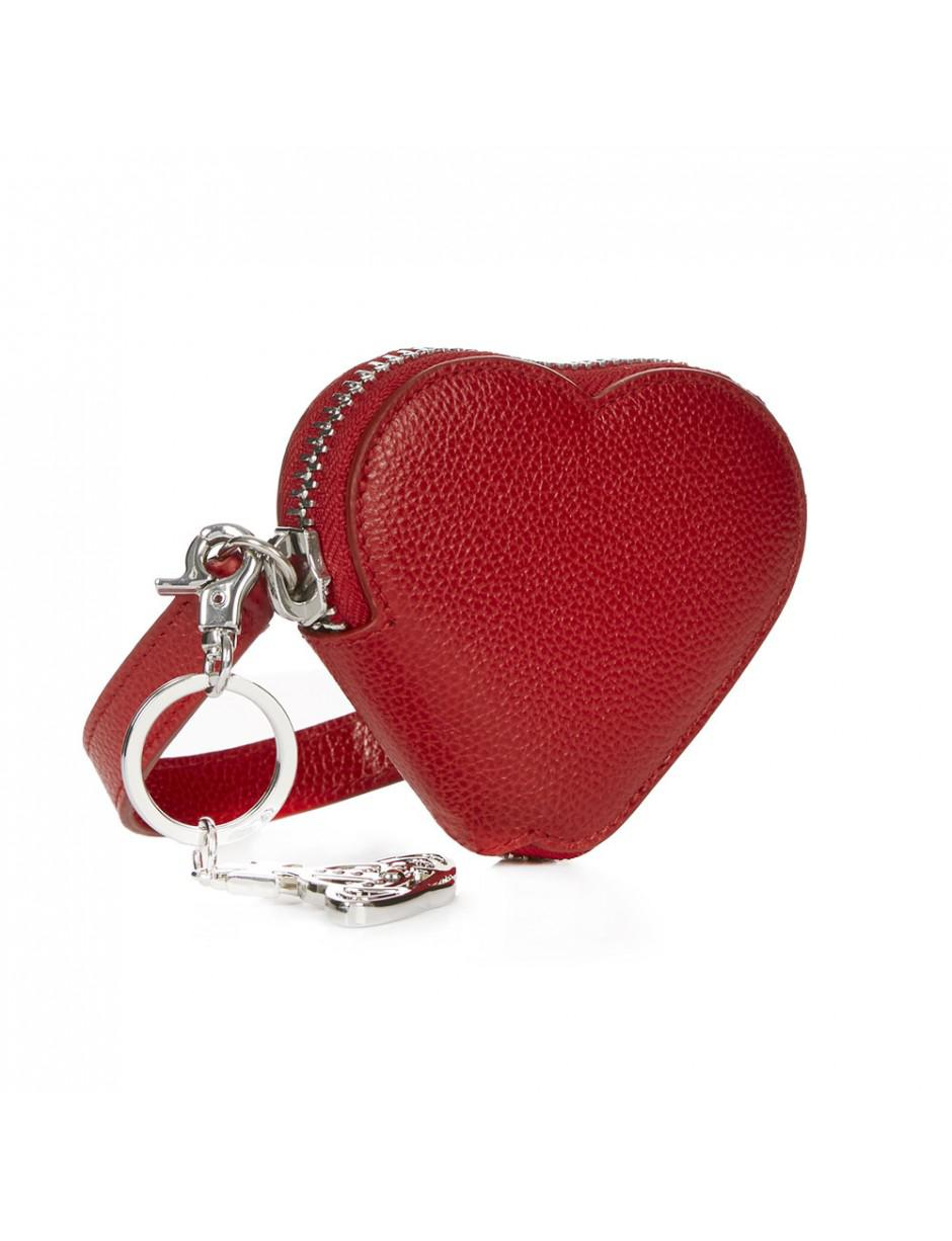 3a663197697 Lyst - Vivienne Westwood Johanna Heart Coin Purse With Orb Gadget in Red