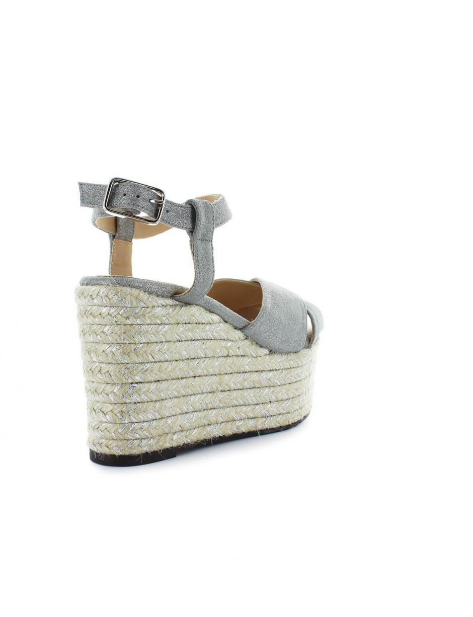 f57a3b37c06 Castaner Castaãââ'er Espino Silver Wedge Sandal 36 in Metallic - Lyst