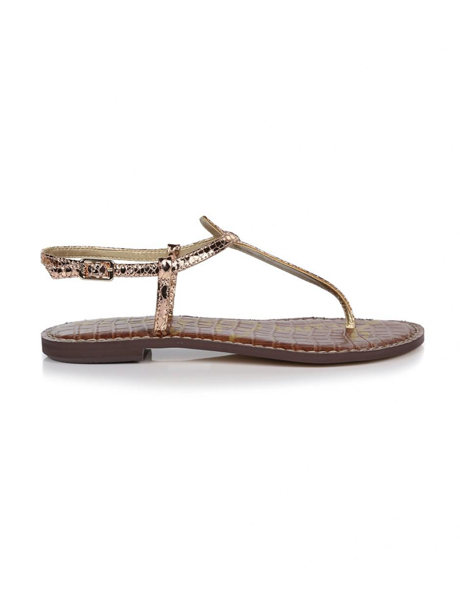 b1dcaaac505b7 Lyst - Sam Edelman Women s Gigi Metallic Boa Sandals in Pink