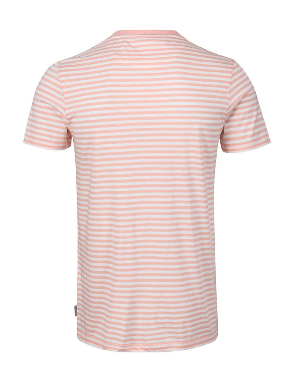 7c672470 Ted Baker Men's Russ Stripe T-shirt in Orange for Men - Lyst