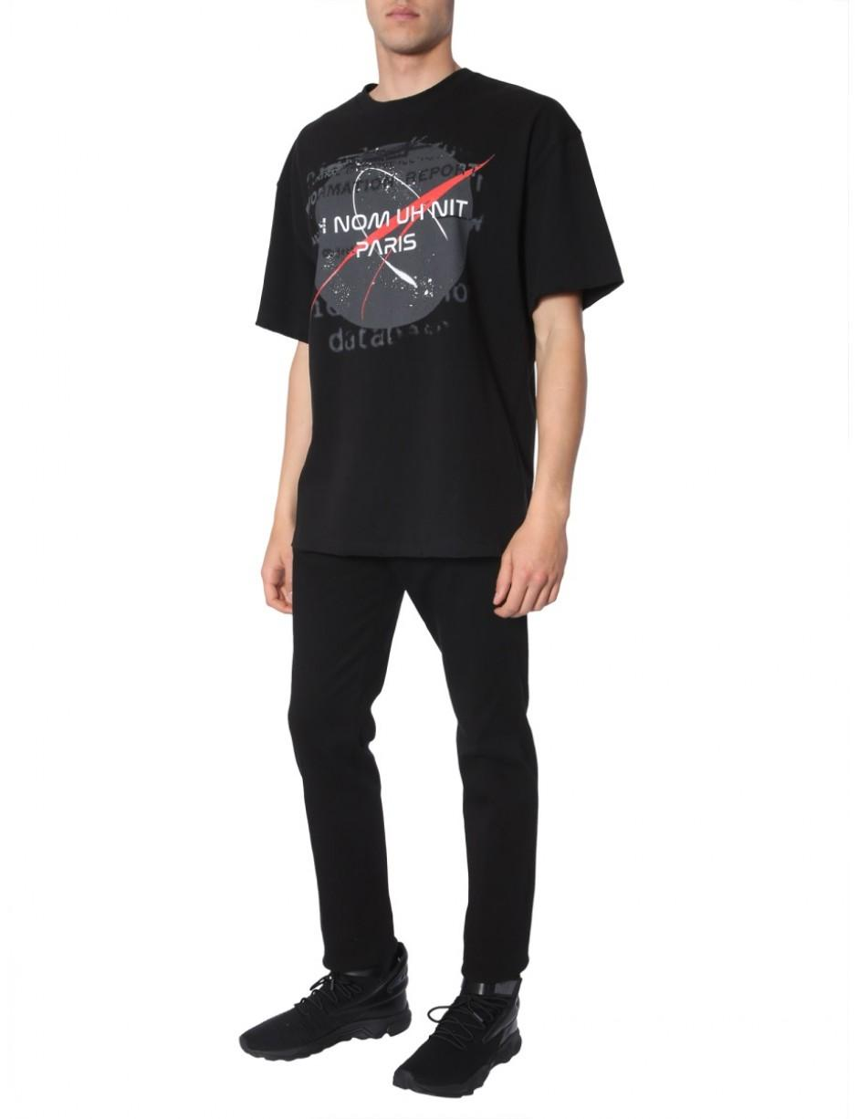 ba64eb6fe44 Lyst - ih nom uh nit Nasa And Logo-print T-shirt in Black for Men