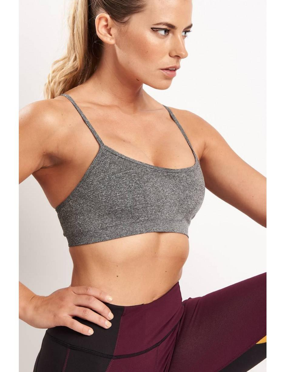 cb50e7cf0a Lyst - Splits59 Loren Seamless Bra Dark Grey in Gray - Save 43%