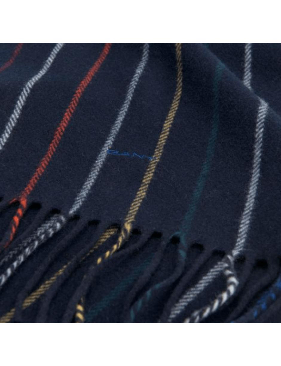 c90619a62965 Lyst - GANT Striped Lambswool Scarf in Blue for Men