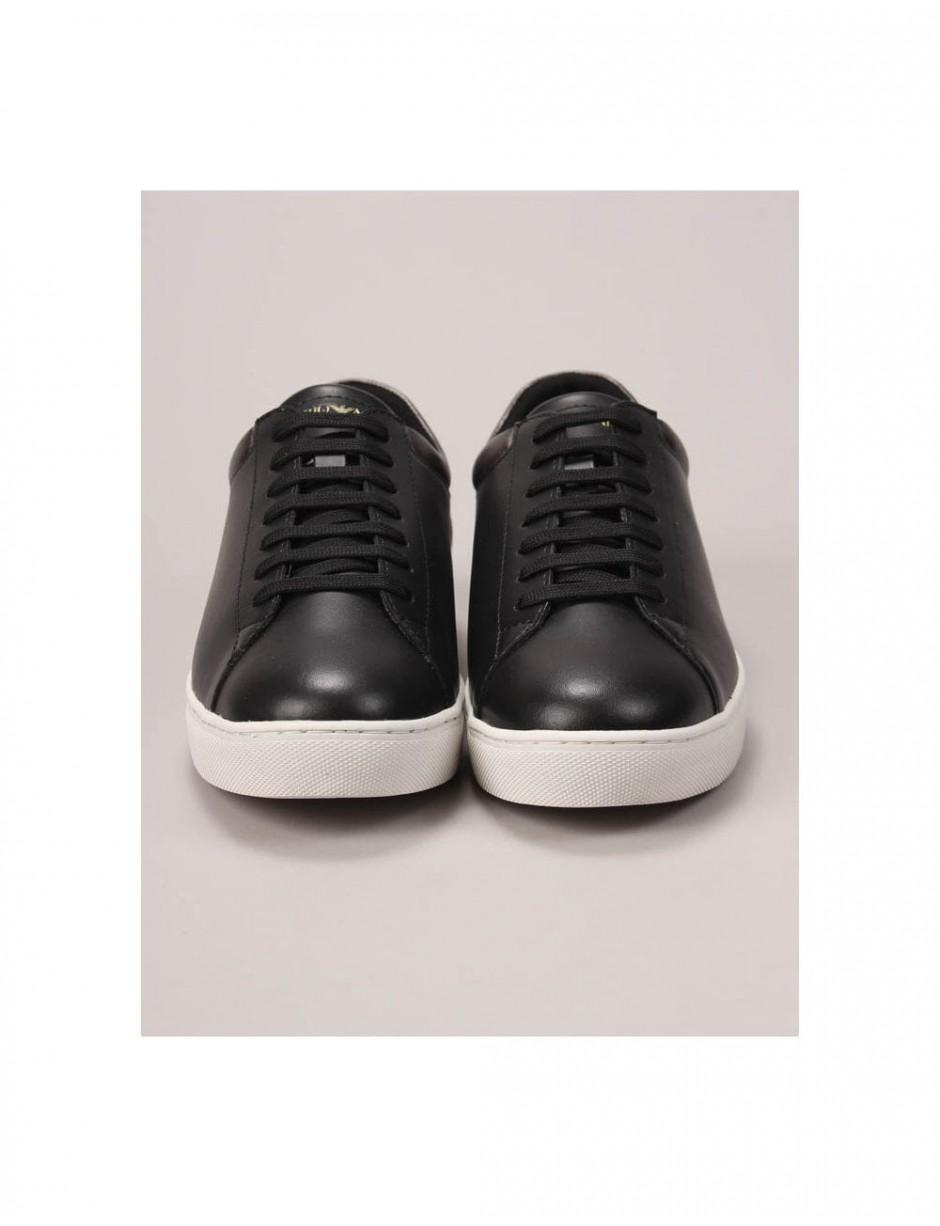 59142e27 Emporio Armani Eagle Back Trainer in Black - Lyst