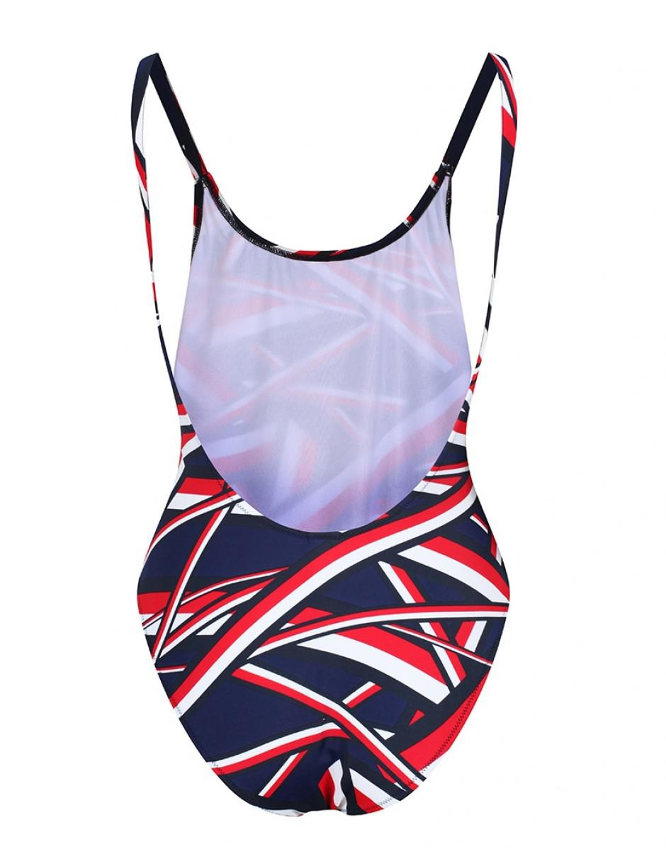 6194aa119d Tommy Hilfiger Women's Iconic High Cut Swimsuit in Blue - Lyst