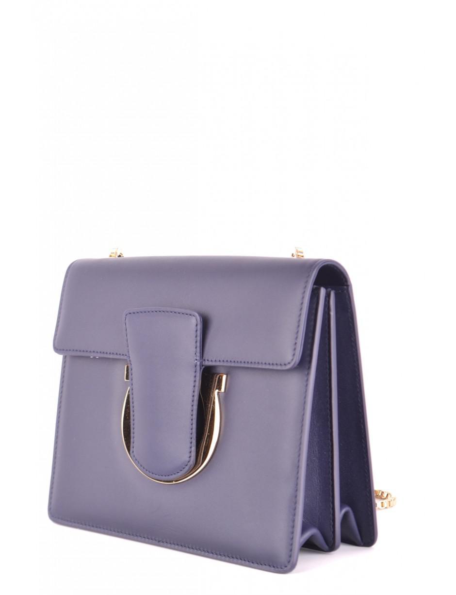 a13e496de8e1 Ferragamo Cross Body Bag In Purple in Blue - Lyst