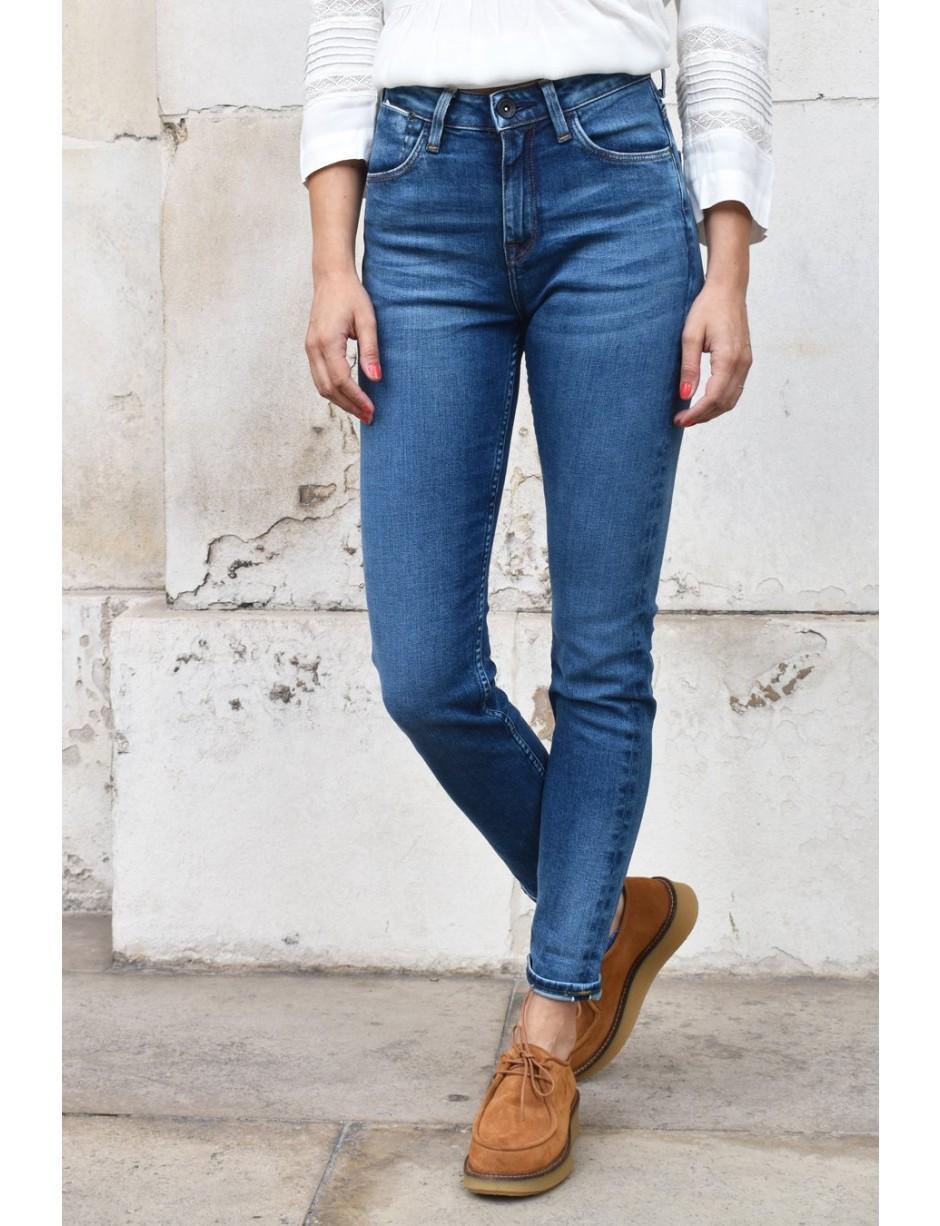 fed87fe8 Lee Jeans Scarlett High Street Indigo Jeans in Blue - Save 50% - Lyst