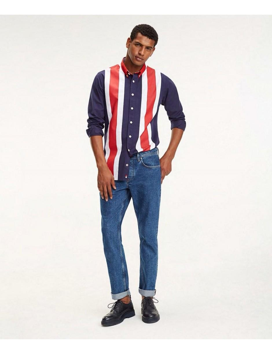 01d0546f Lyst - Tommy Hilfiger Oversized Fit Icon Panelled Shirt in Blue for Men