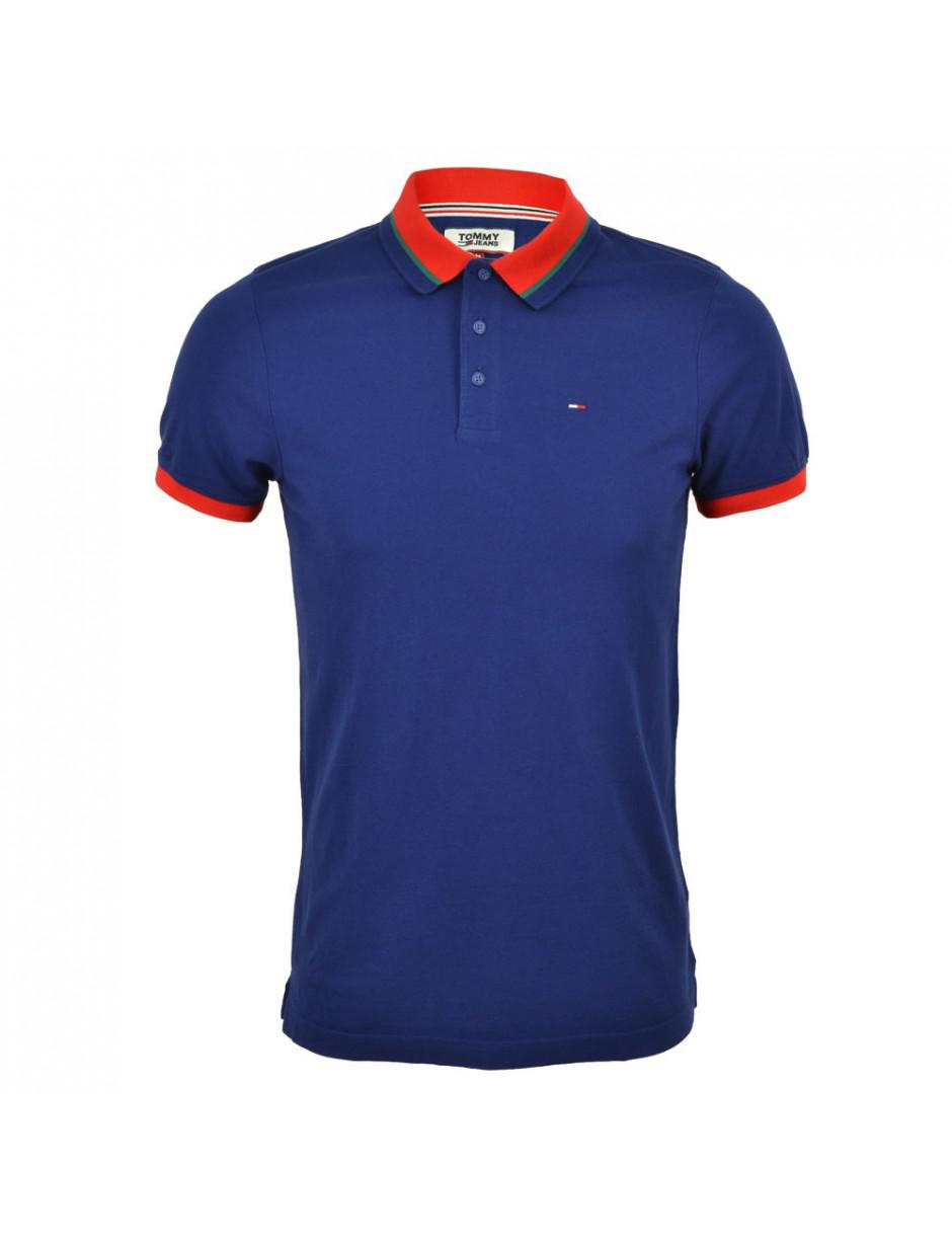 bd8bd738e3c Tommy Hilfiger Tommy Jeans Tipped Polo in Blue for Men - Lyst