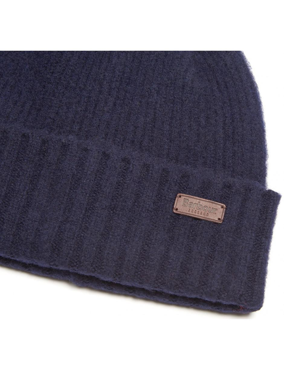 66881e5ff87 Lyst - Barbour Men s Danby Beanie Hat in Blue for Men