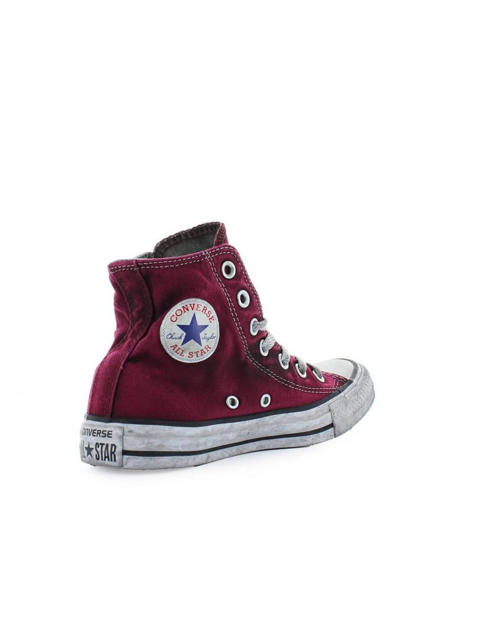 6ae756f3cfb9 Converse All Star High Canvas Maroon Chuck Taylor Sneaker Ltd Ed Women 37  in Red - Lyst