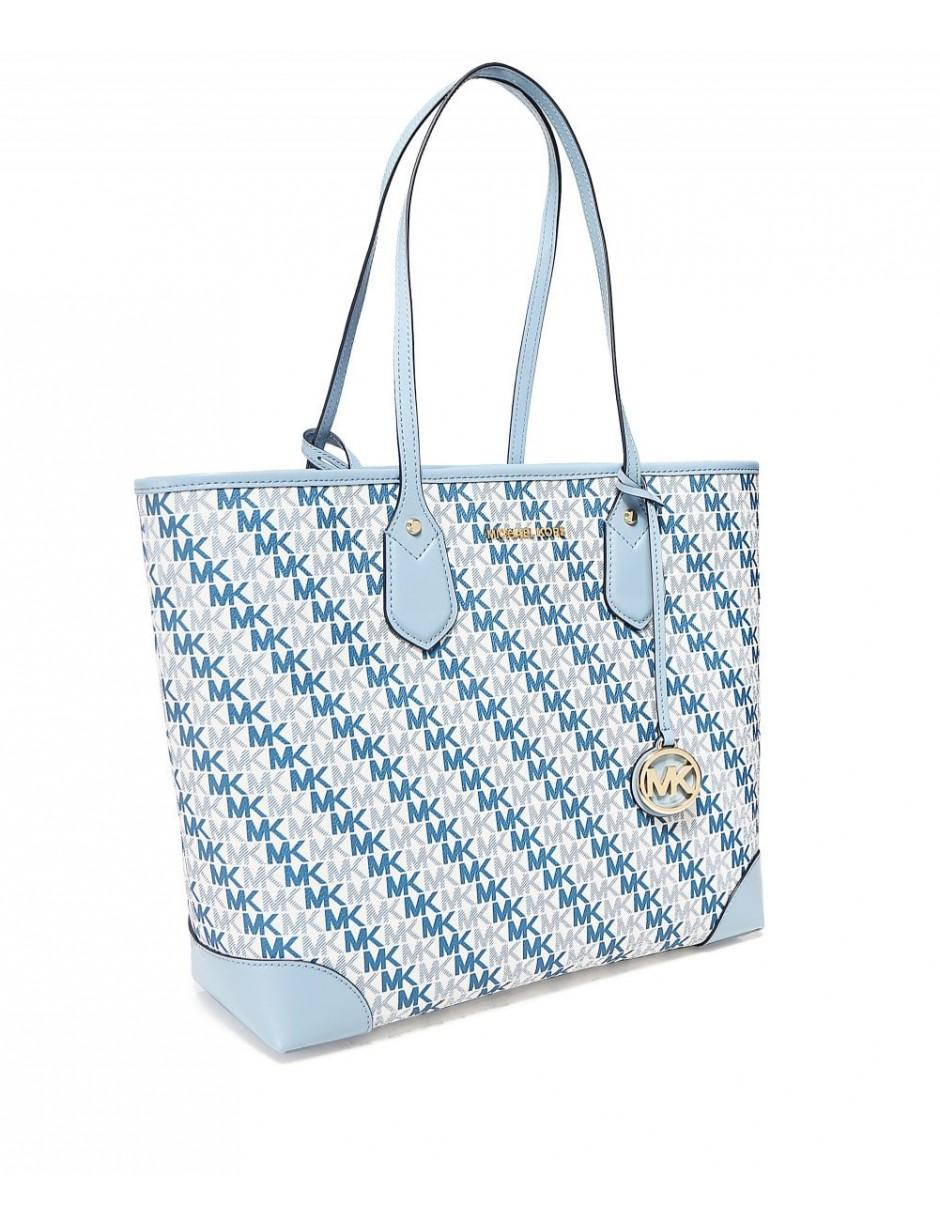 5ae067c396b2ad Lyst - MICHAEL Michael Kors Eva Large Logo Tote Bag in White