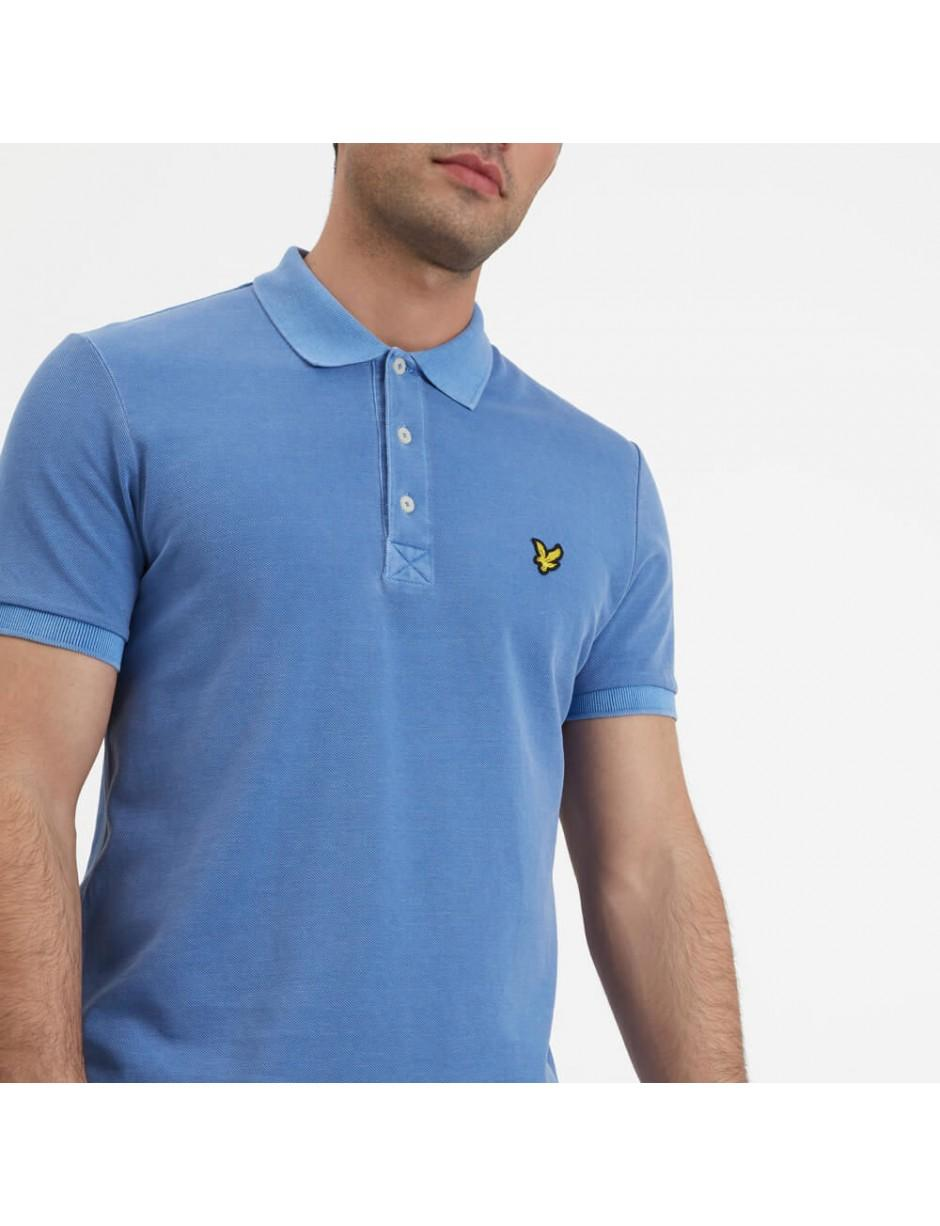 a5f4b648c41 Lyst - Lyle   Scott Lyle And Scott Snow Washed Polo Shirt in Blue ...