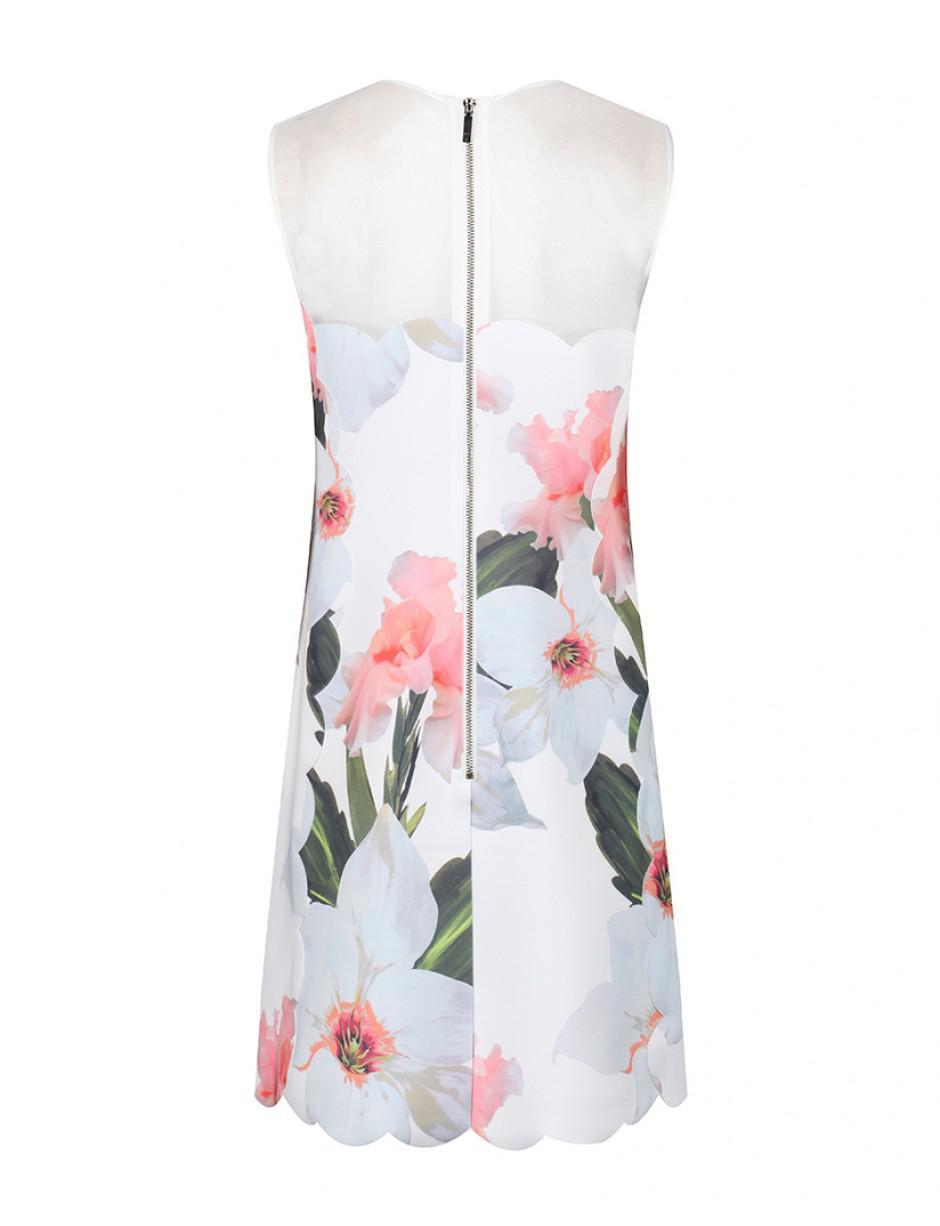 cae0f5e67e8 Lyst - Ted Baker Women s Caprila Chatsworth Bloom Scallop Tunic ...