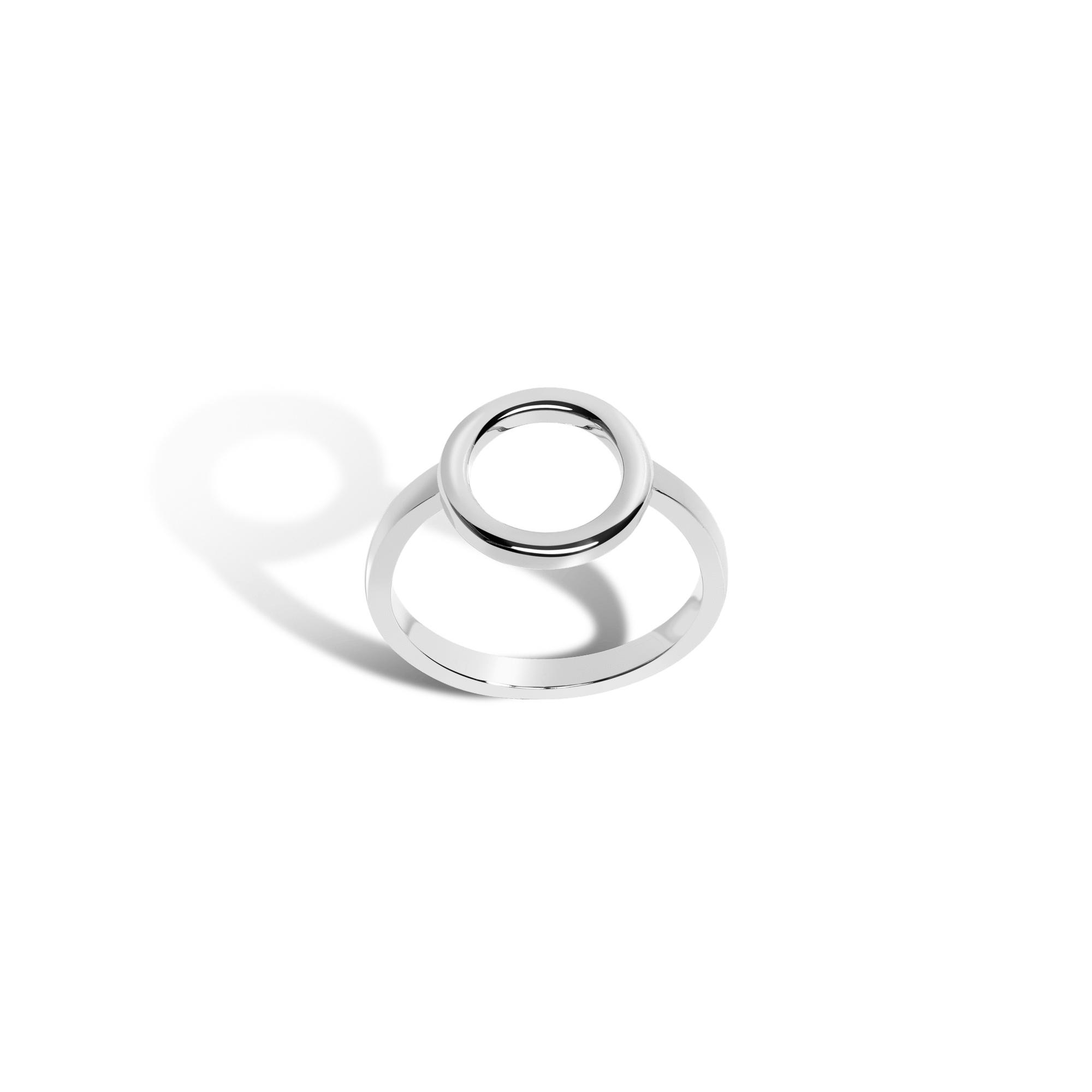 5eab55ce153a97 Lyst - AUrate New York Solid Circle Ring in Yellow