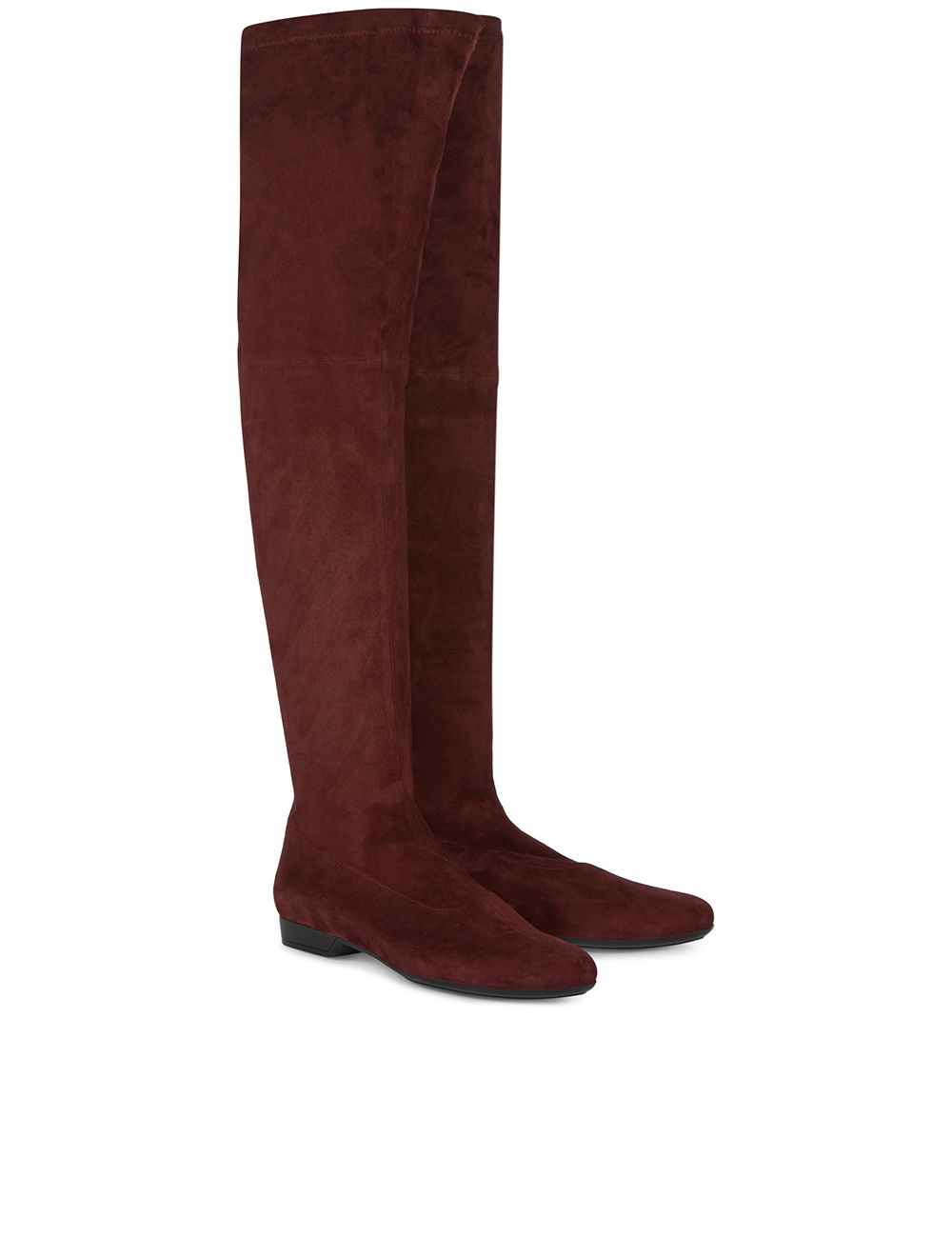 robert clergerie burgundy suede thigh high fetel boots in