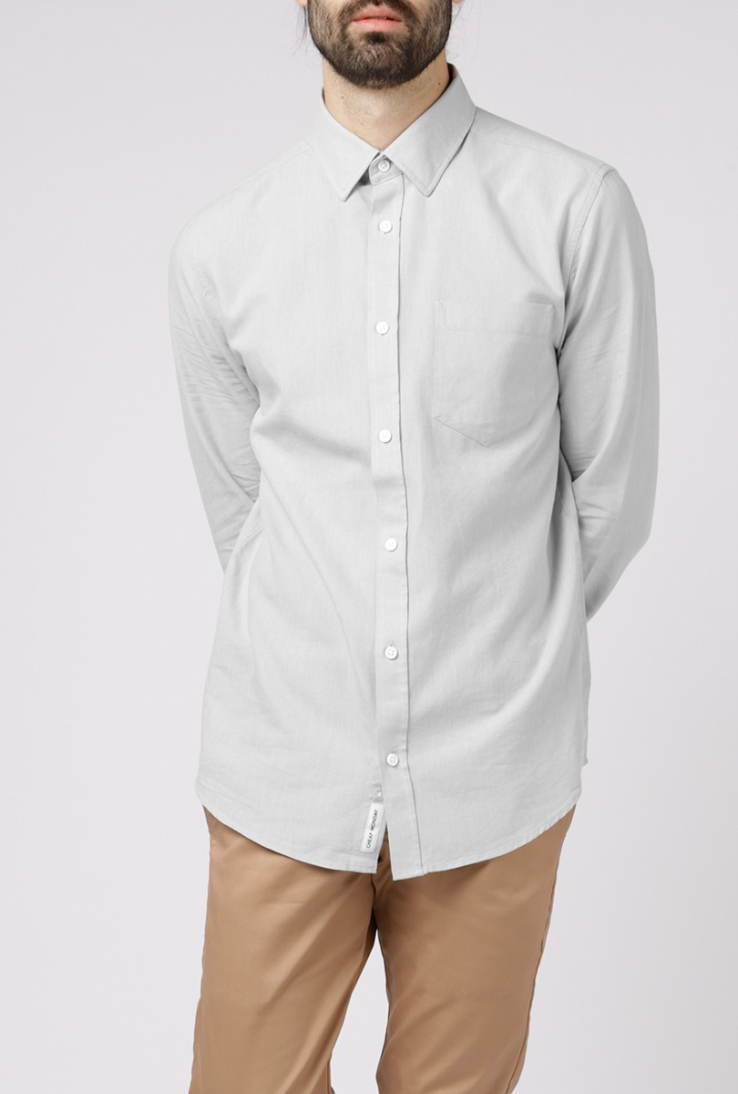 Cheap Monday Bolt Oxford Shirt In Gray For Men Lyst