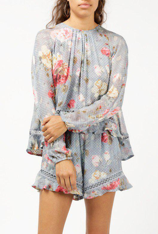 3a11d196b0 Zimmermann Floating Layer Playsuit - Lyst