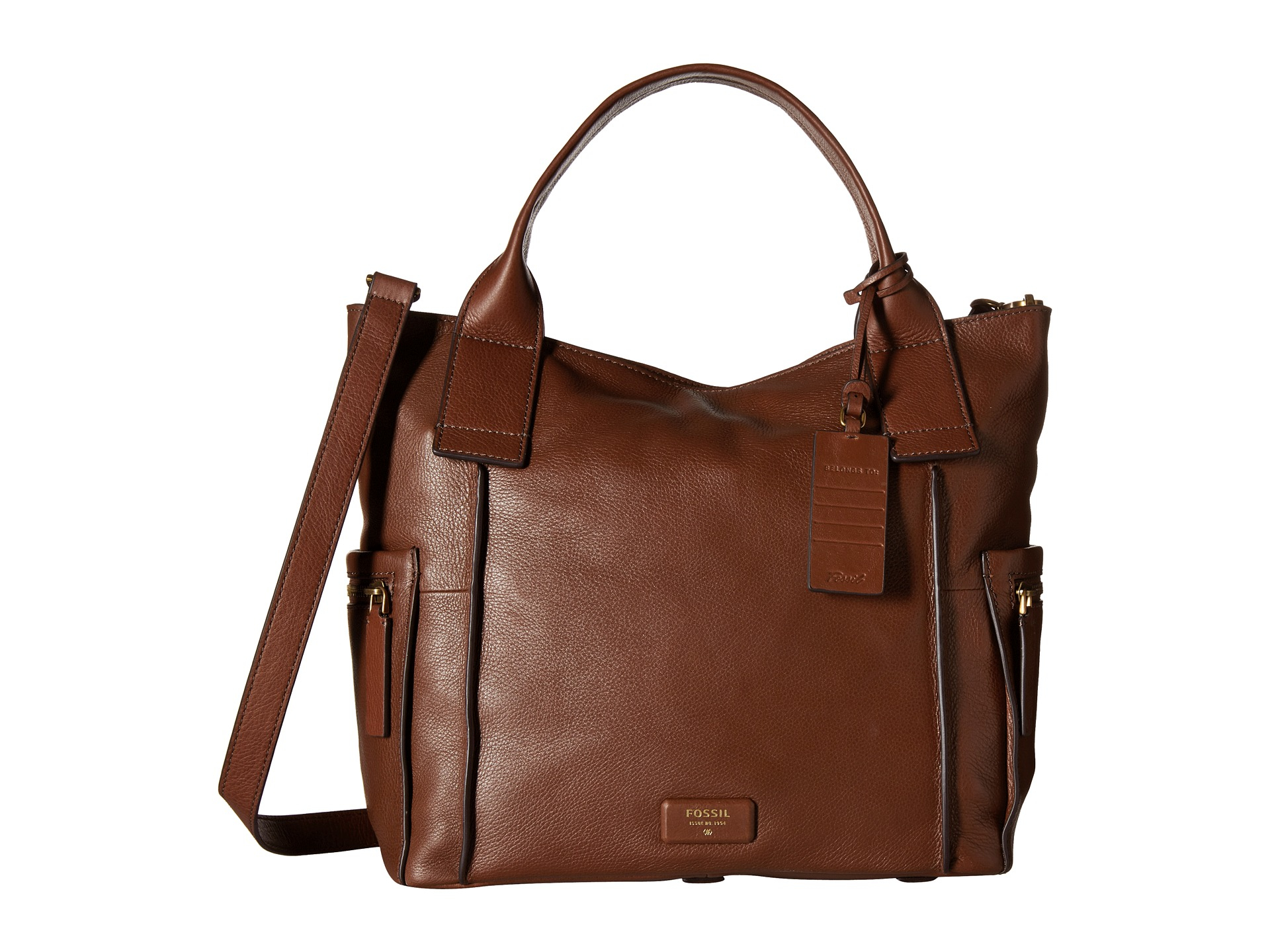 Fossil Emerson Satchel In Brown Lyst