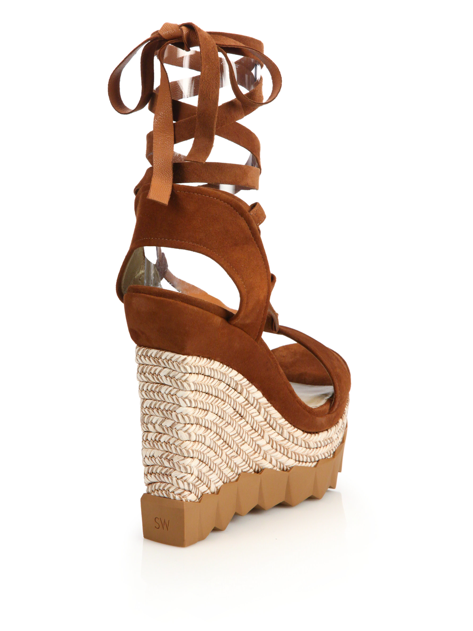 Stuart Weitzman Suede Wedge Mules release dates cheap price buy cheap geniue stockist discount new clearance choice YVnXT96l