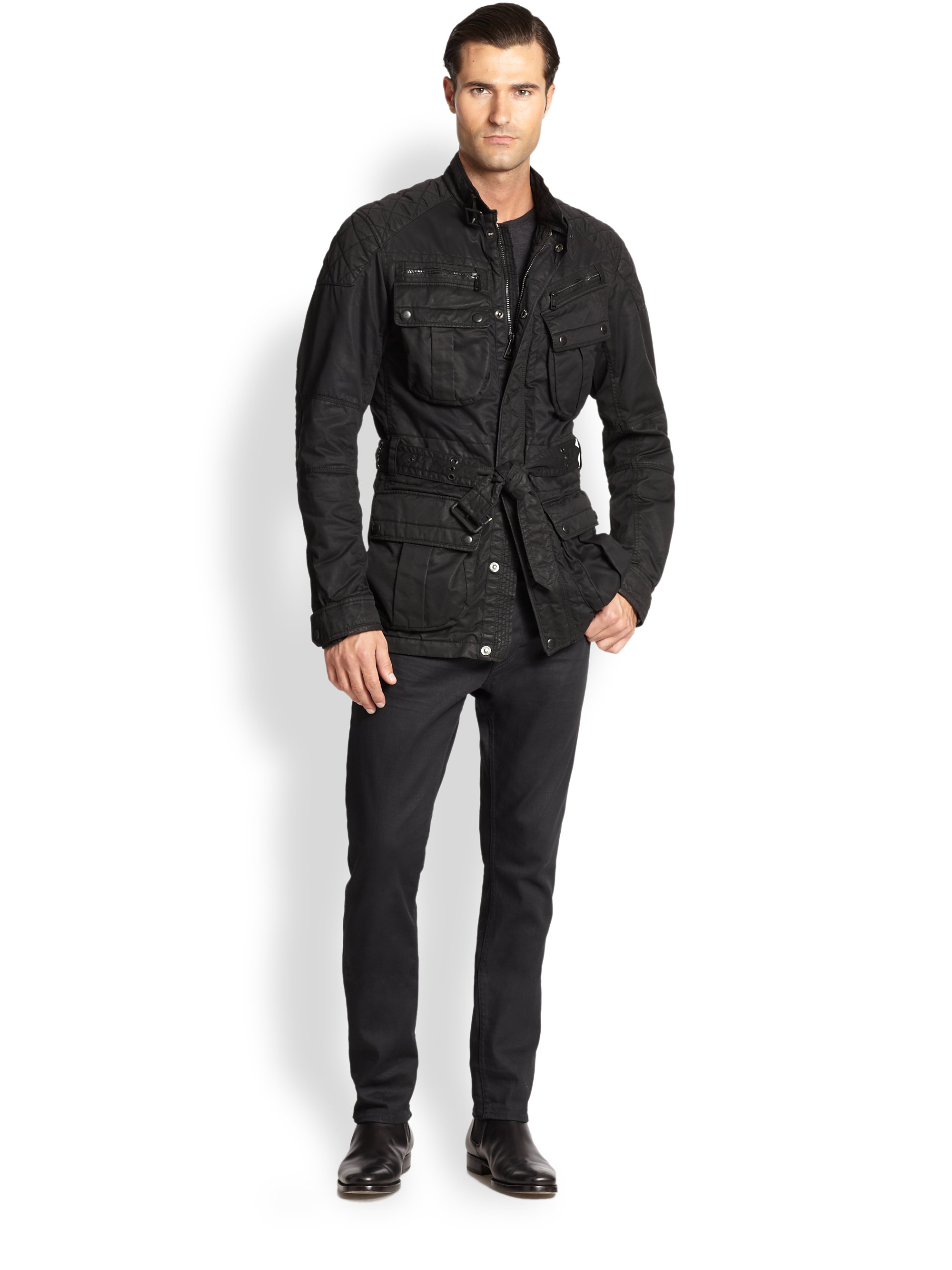 Lyst Ralph Lauren Black Label Suspension 4 Pocket Jacket In Black For Men