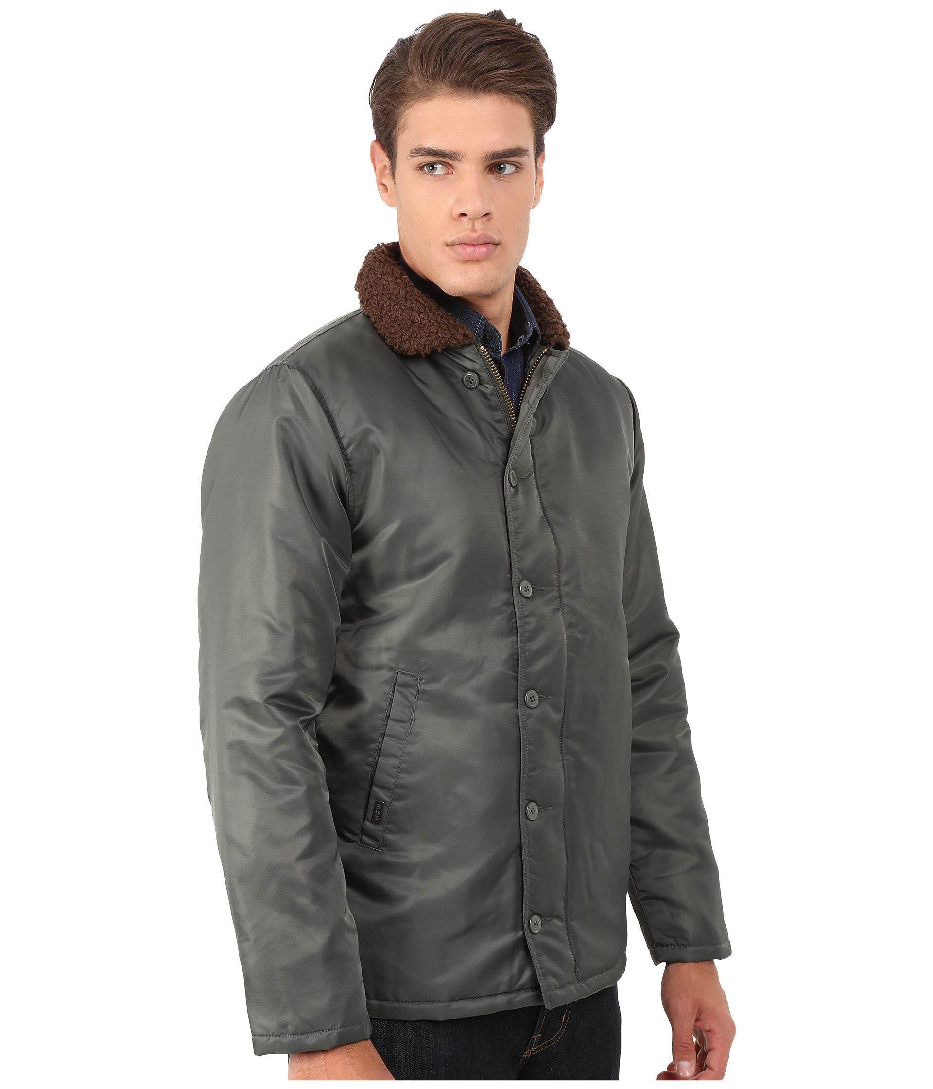 Lyst - Brixton Mast Jacket in Green for Men 0686cc7e317