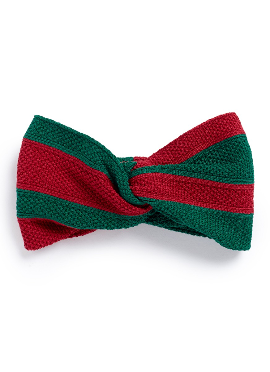Gucci Web Stripe Cotton Knot Headband Lyst