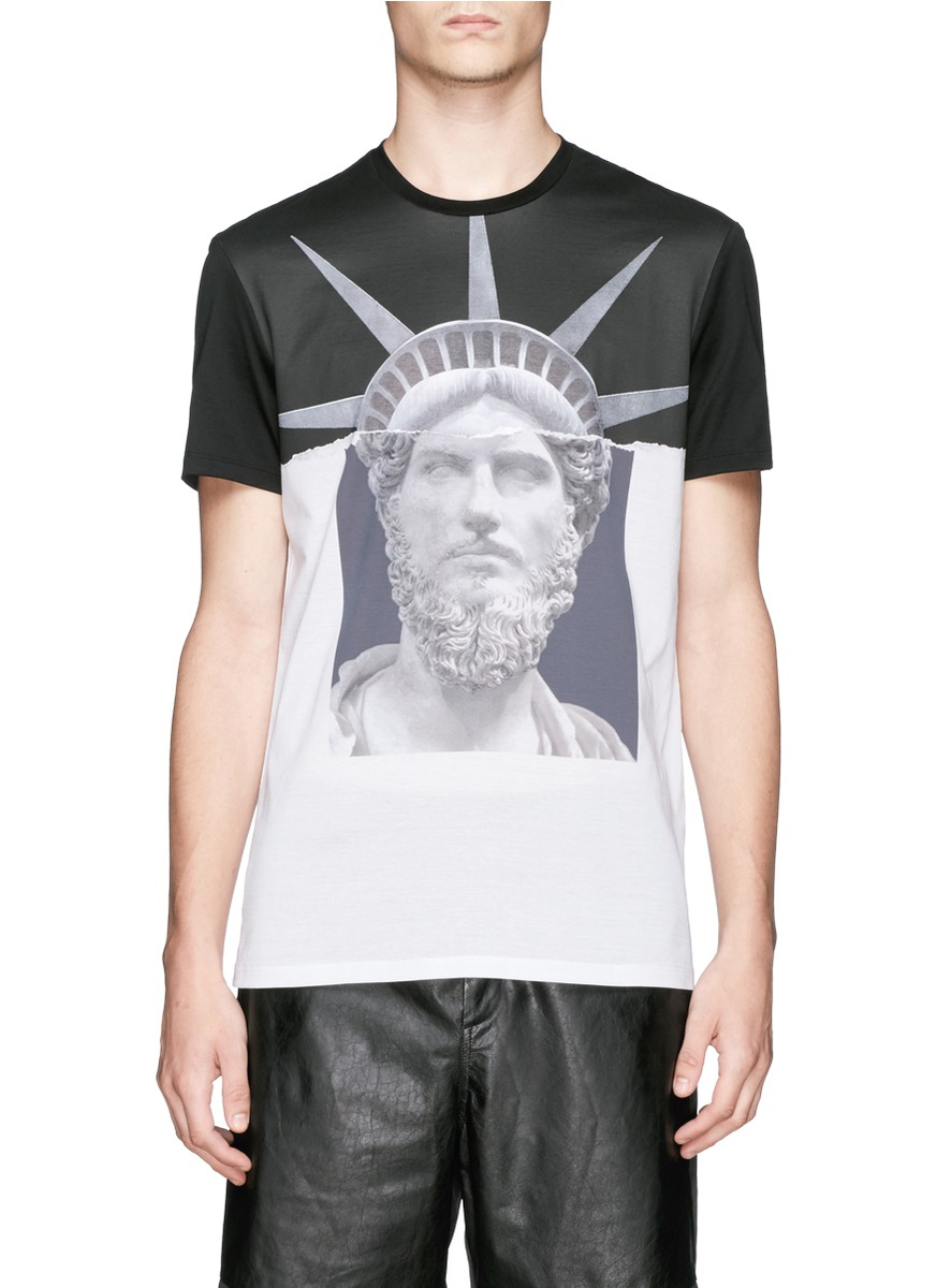 74fcd5d0a69df Lyst - Neil Barrett  Emperor Of Nyc  Print T-Shirt in Black for Men