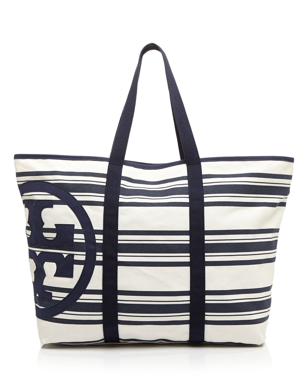 9d3595c1c9b Lyst - Tory Burch Tote - Large Beach Stripe in Blue