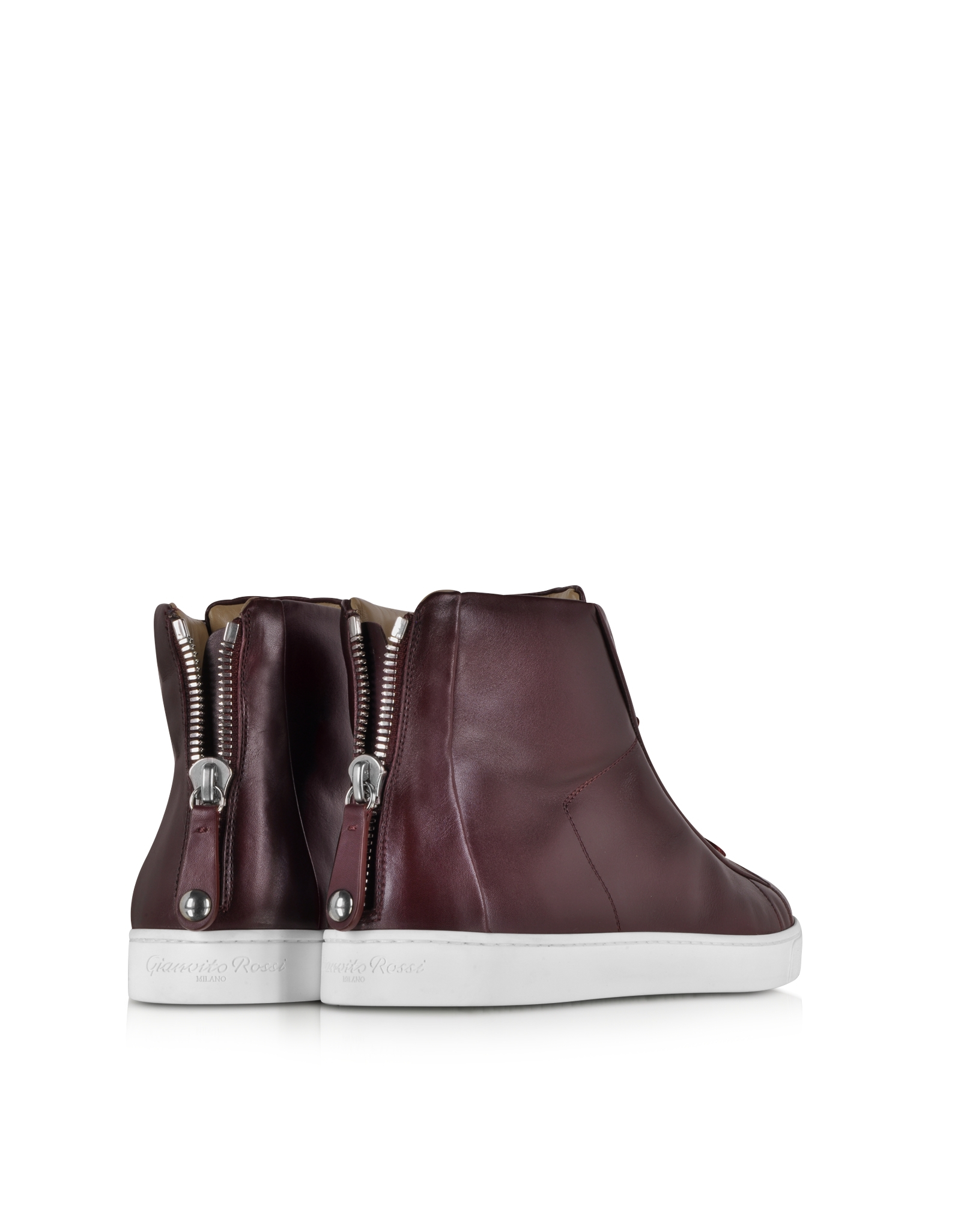 Gianvito Rossi Leather High-Top Sneakers 5uYcdMiFNP