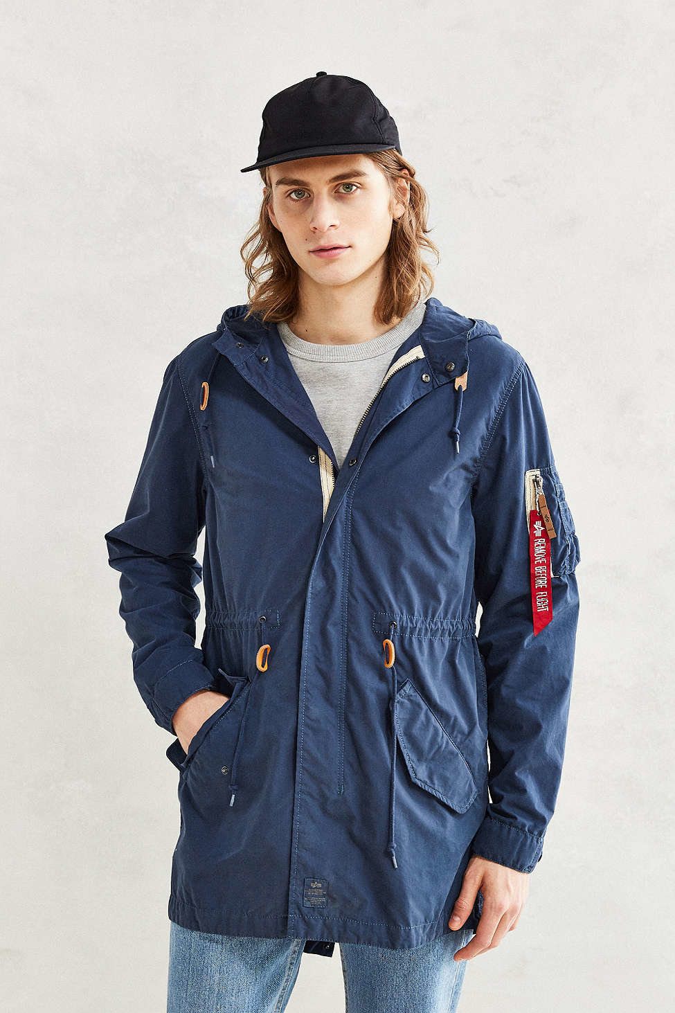 Alpha industries X Uo Fishtail Jacket in Blue for Men | Lyst
