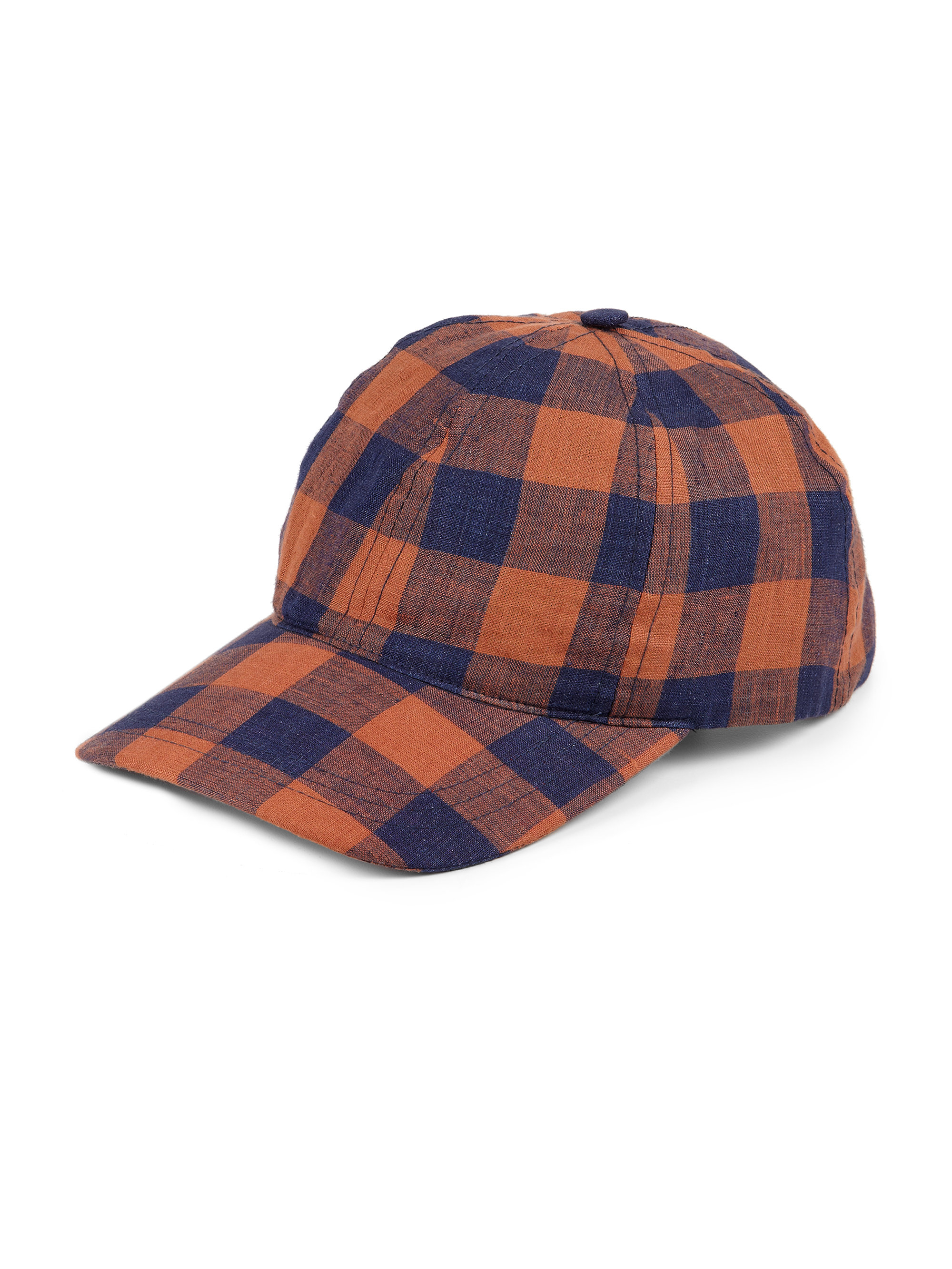 a p c plaid baseball hat in blue for orange navy lyst
