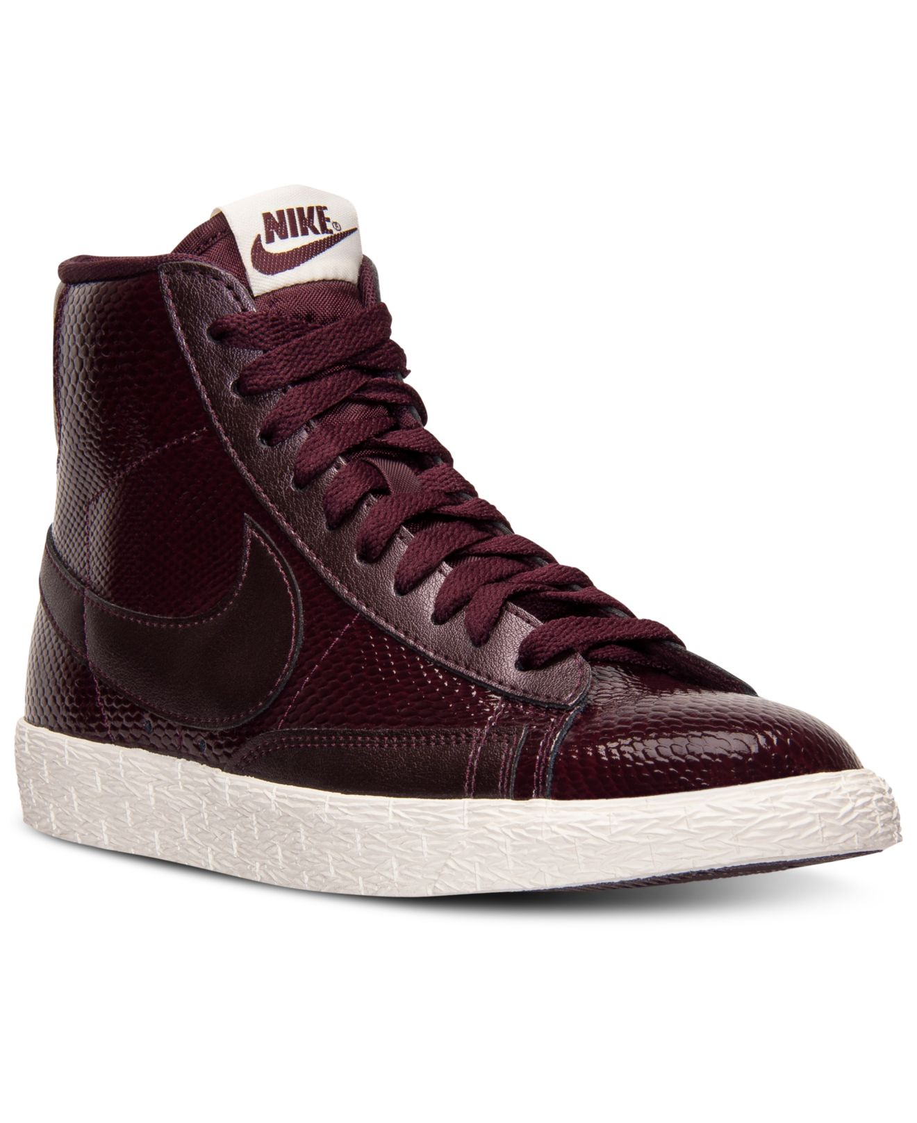 womens nike® blazer mid vintage sneakers deep burgundy dress
