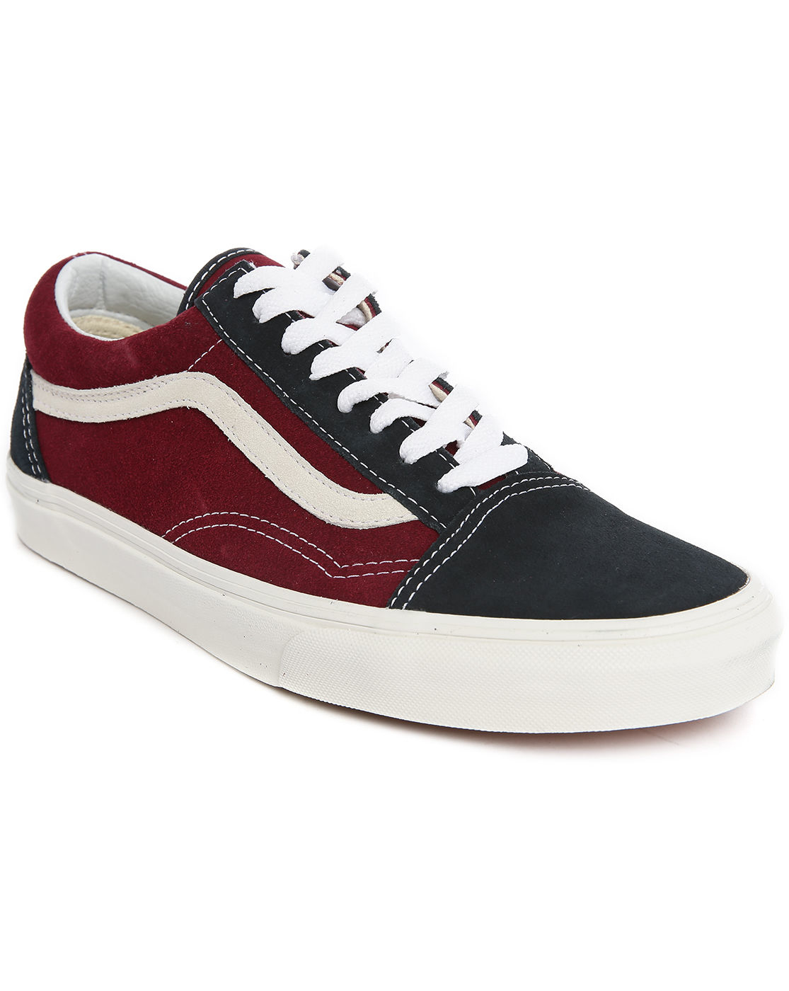 vans old skool two toned low top sneakers in red for men. Black Bedroom Furniture Sets. Home Design Ideas