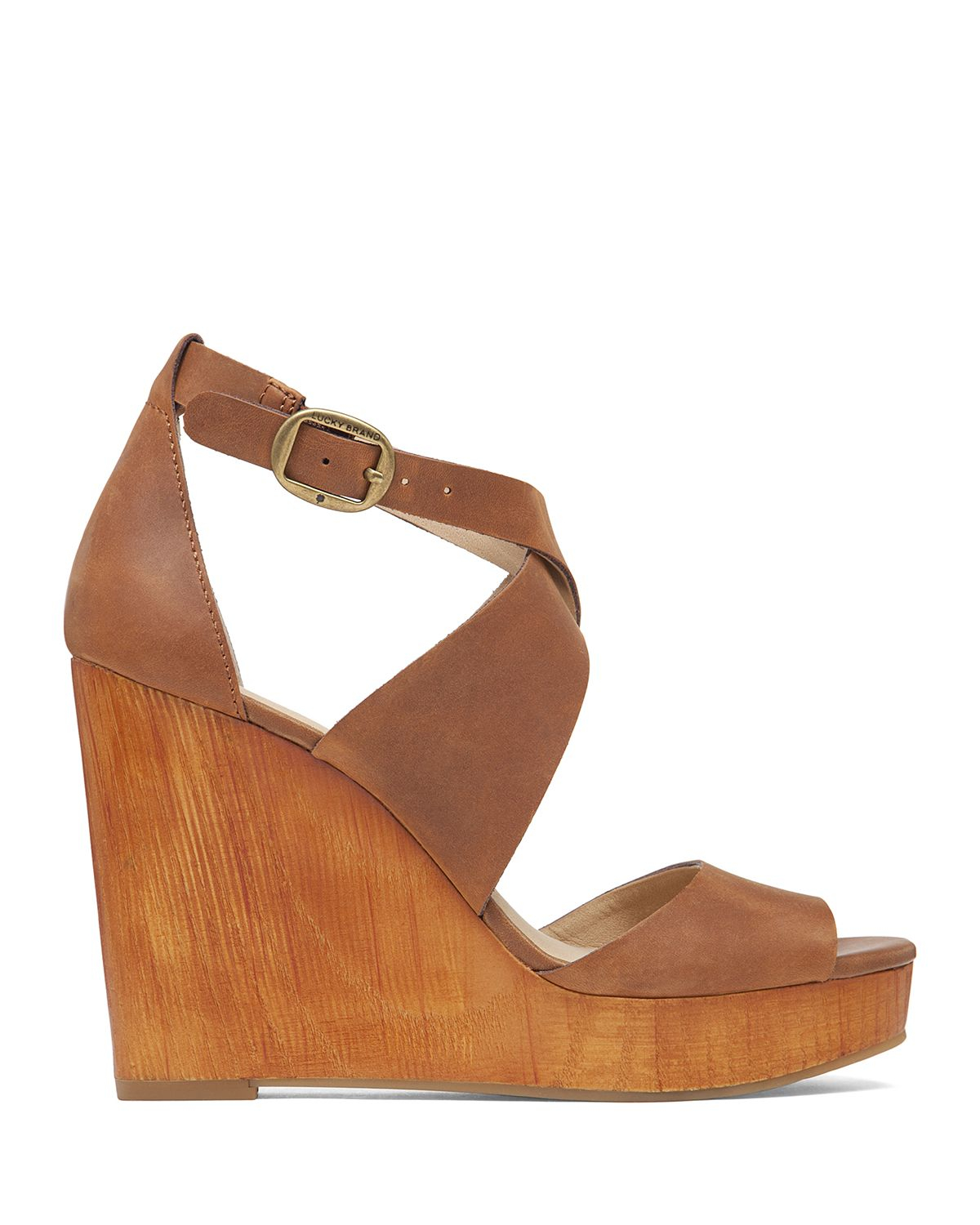 7ce1e3c48e2 Lyst - Lucky Brand Wedge Sandals - Lyndell in Brown