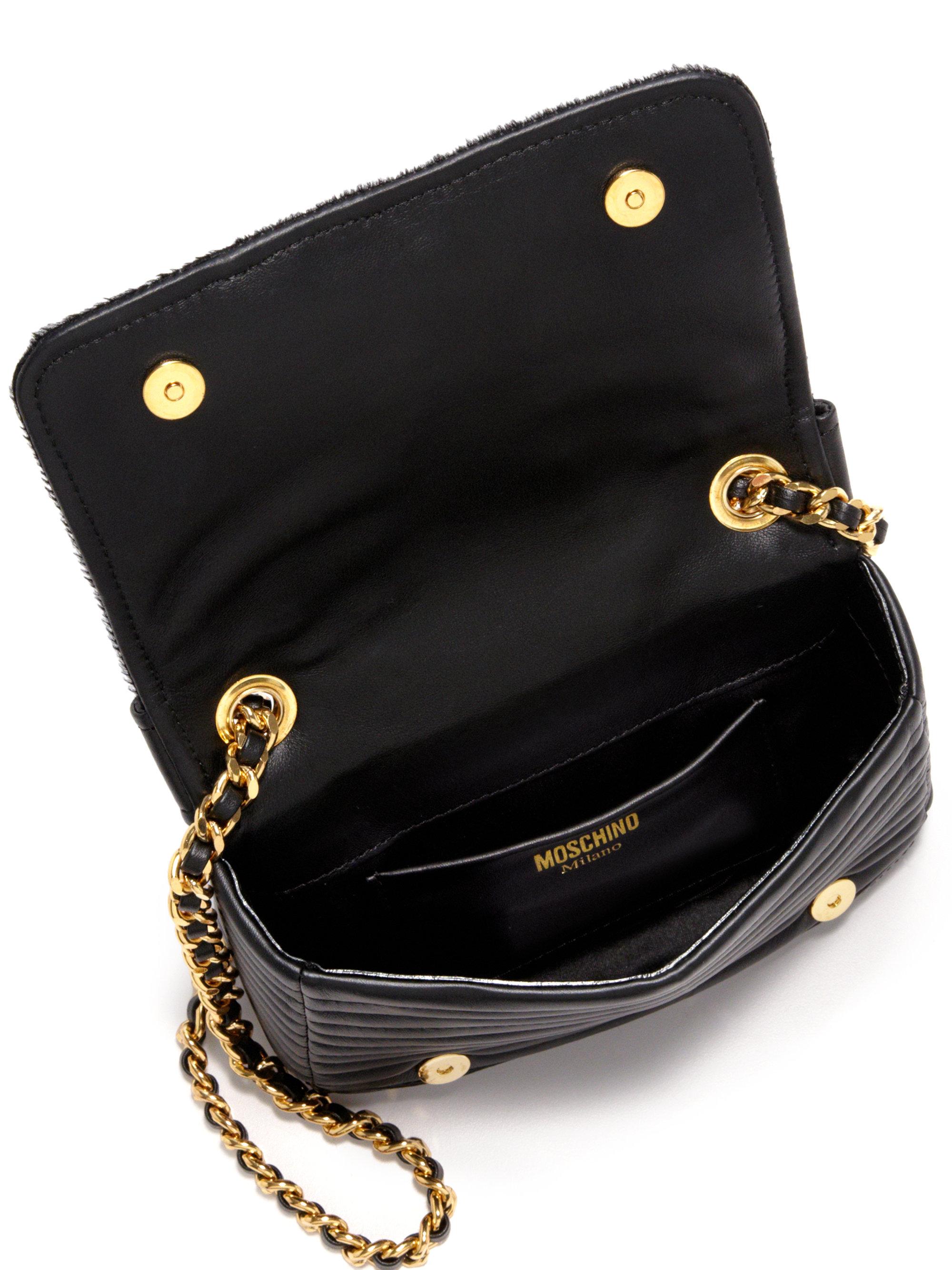 Moschino moto shoulder bag - Black WkxCq