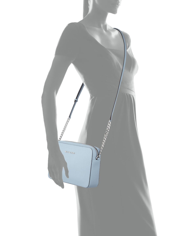 ebaefe31cdb4 MICHAEL Michael Kors Jet Set Travel Large Cross-Body Bag in Blue - Lyst