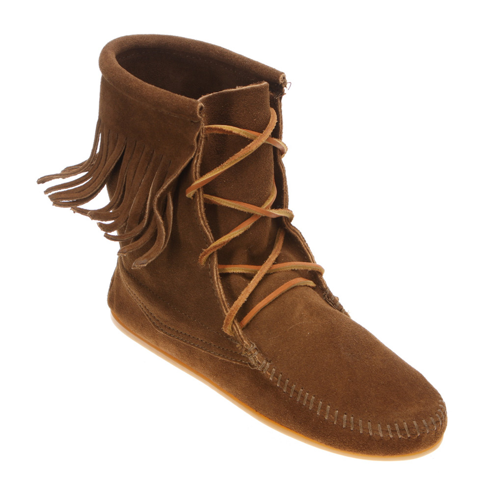minnetonka ankle hi trer boot in brown lyst