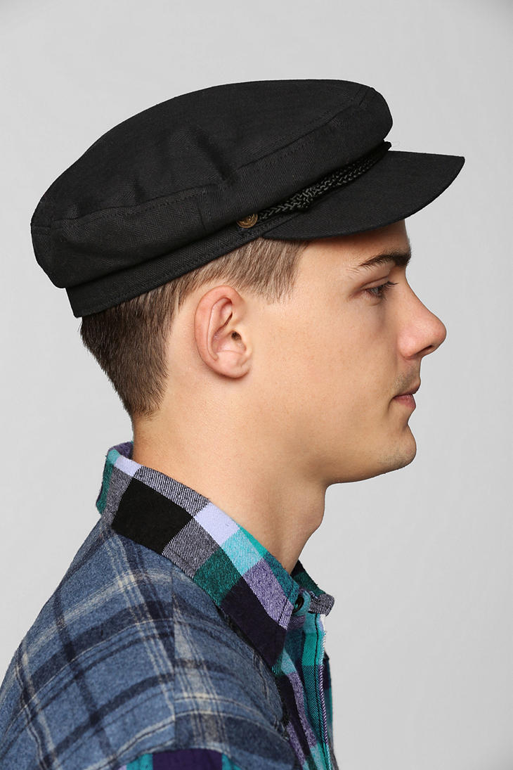 urban outfitters brixton fiddler fisherman cap in black
