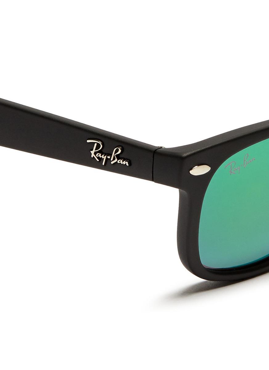 c5e8d34315a ... denmark lyst ray ban new wayfarer junior matte plastic mirror sunglasses  a9264 a2905