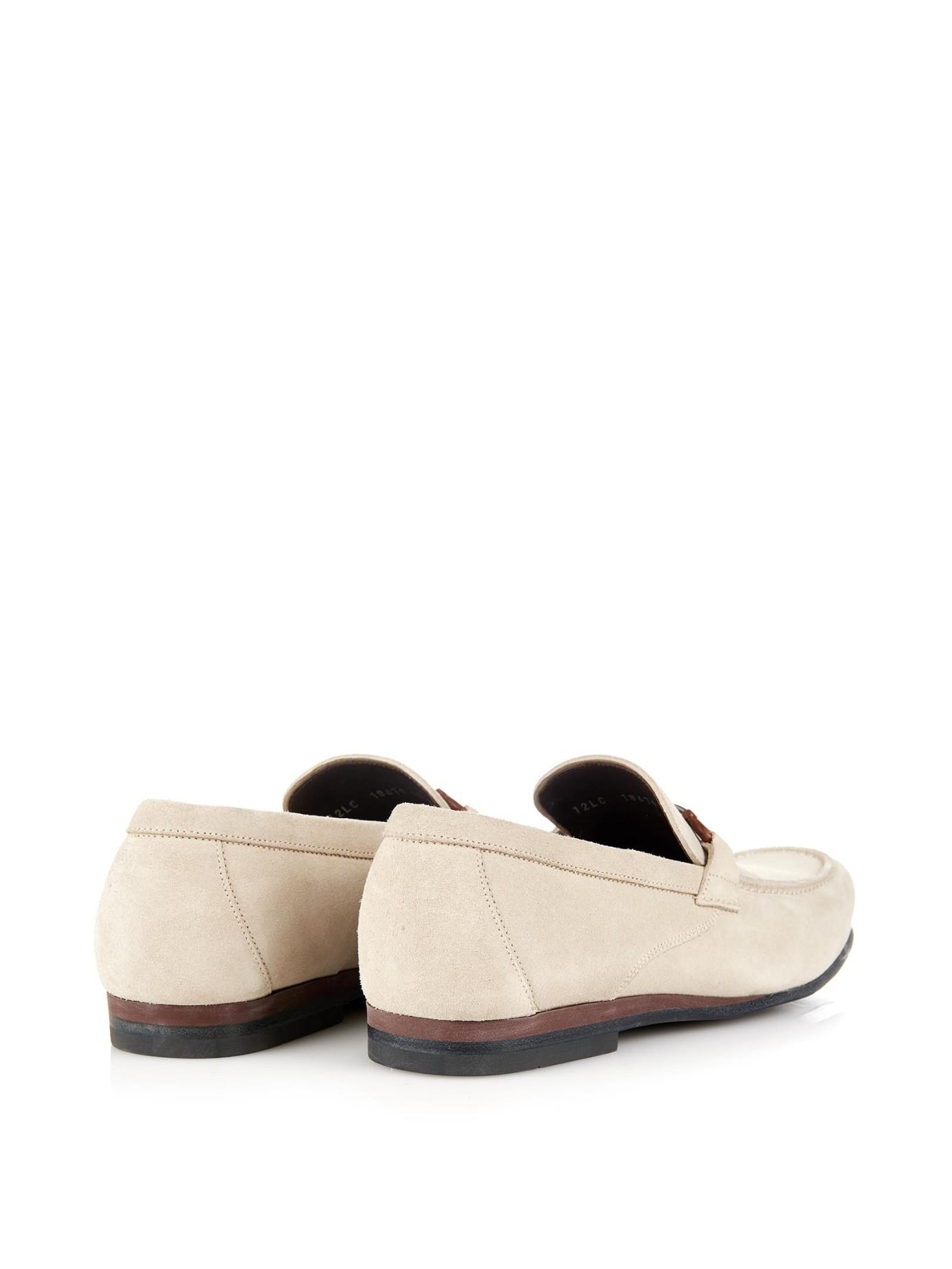 375aaa888a324 Ferragamo Lyst In Men Loafers For Nepal White Suede aZwqS7