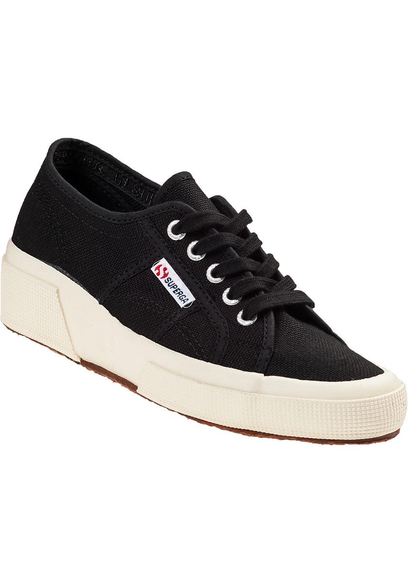 Superga: Superga Velvet Lace Up Sneakers In Black