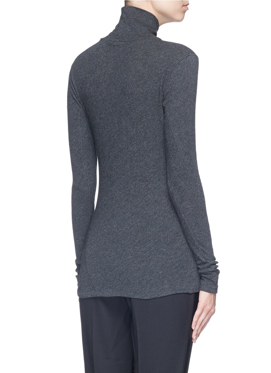 Rag bone 39 layering 39 long sleeve turtleneck t shirt in for Turtleneck under t shirt