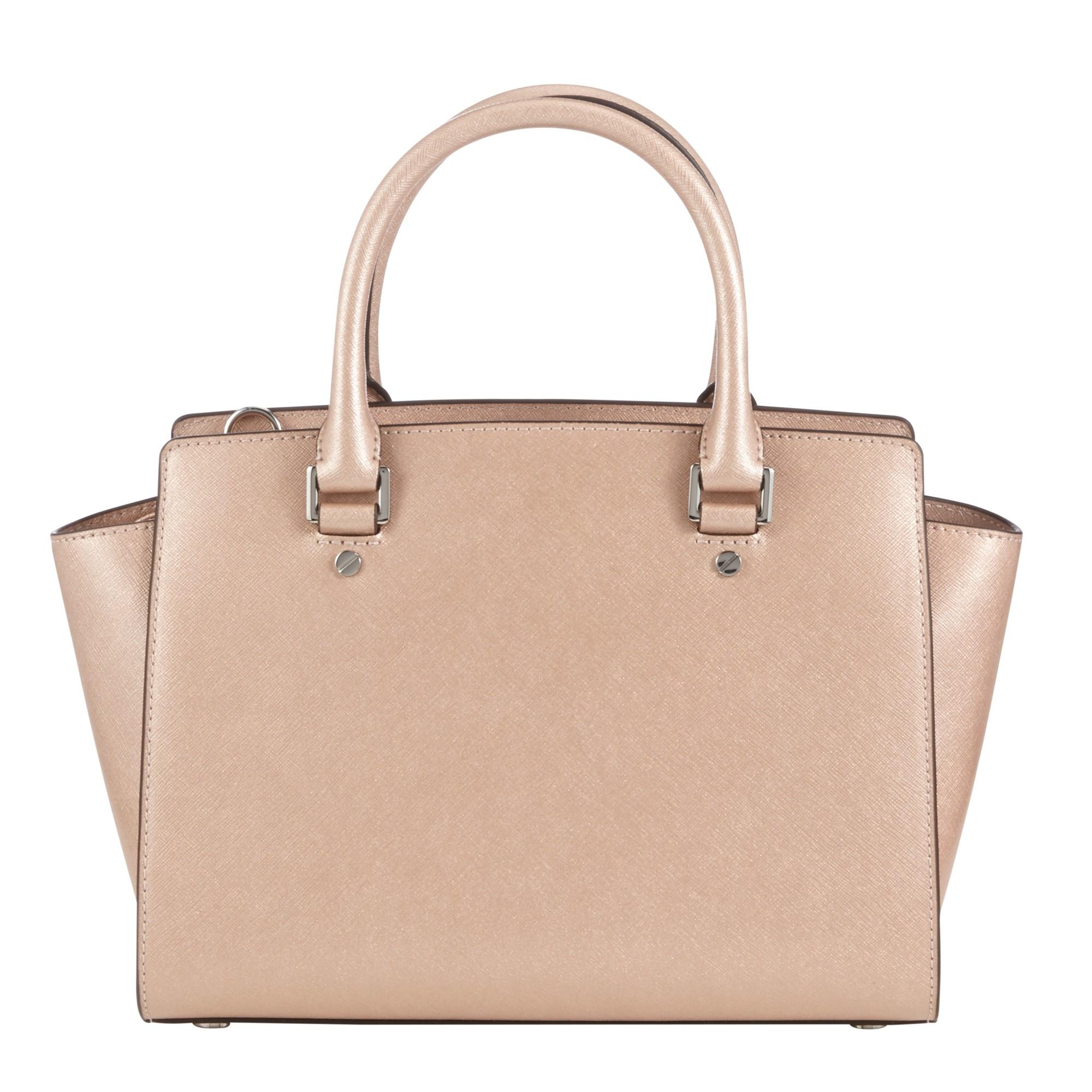 MICHAEL Michael Kors Selma Medium Top Zip Leather Satchel in Pink - Lyst 73df9e22cdfe3