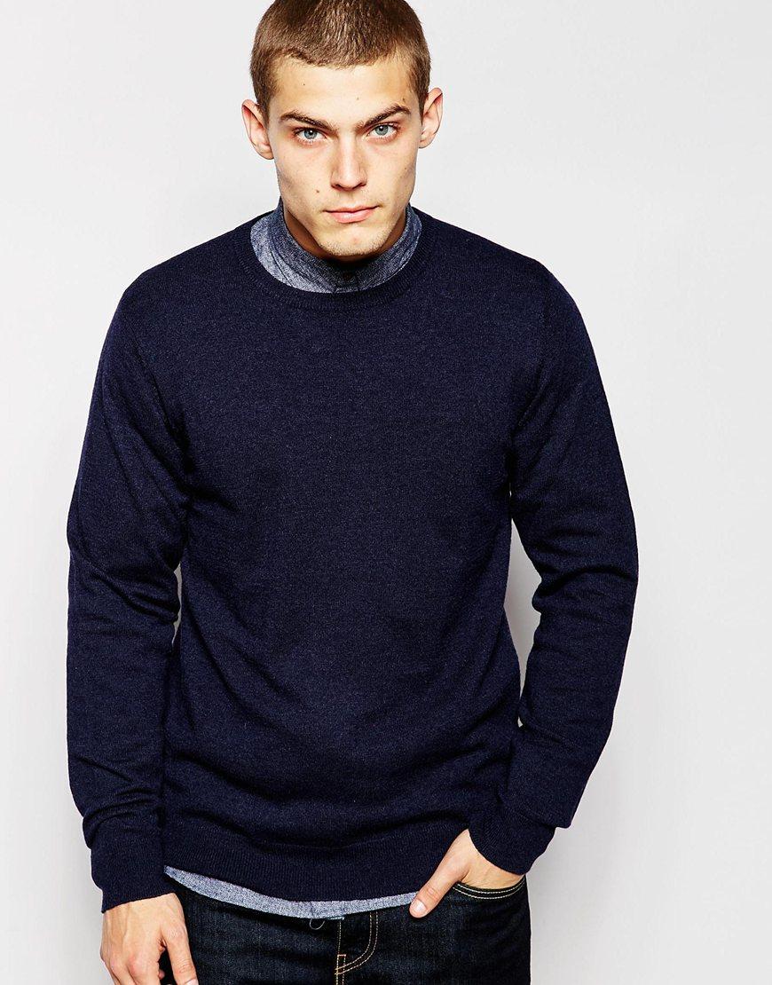 Men For Sweater Carhartt Wip Playoff Blue Lyst In tCsrdhQ