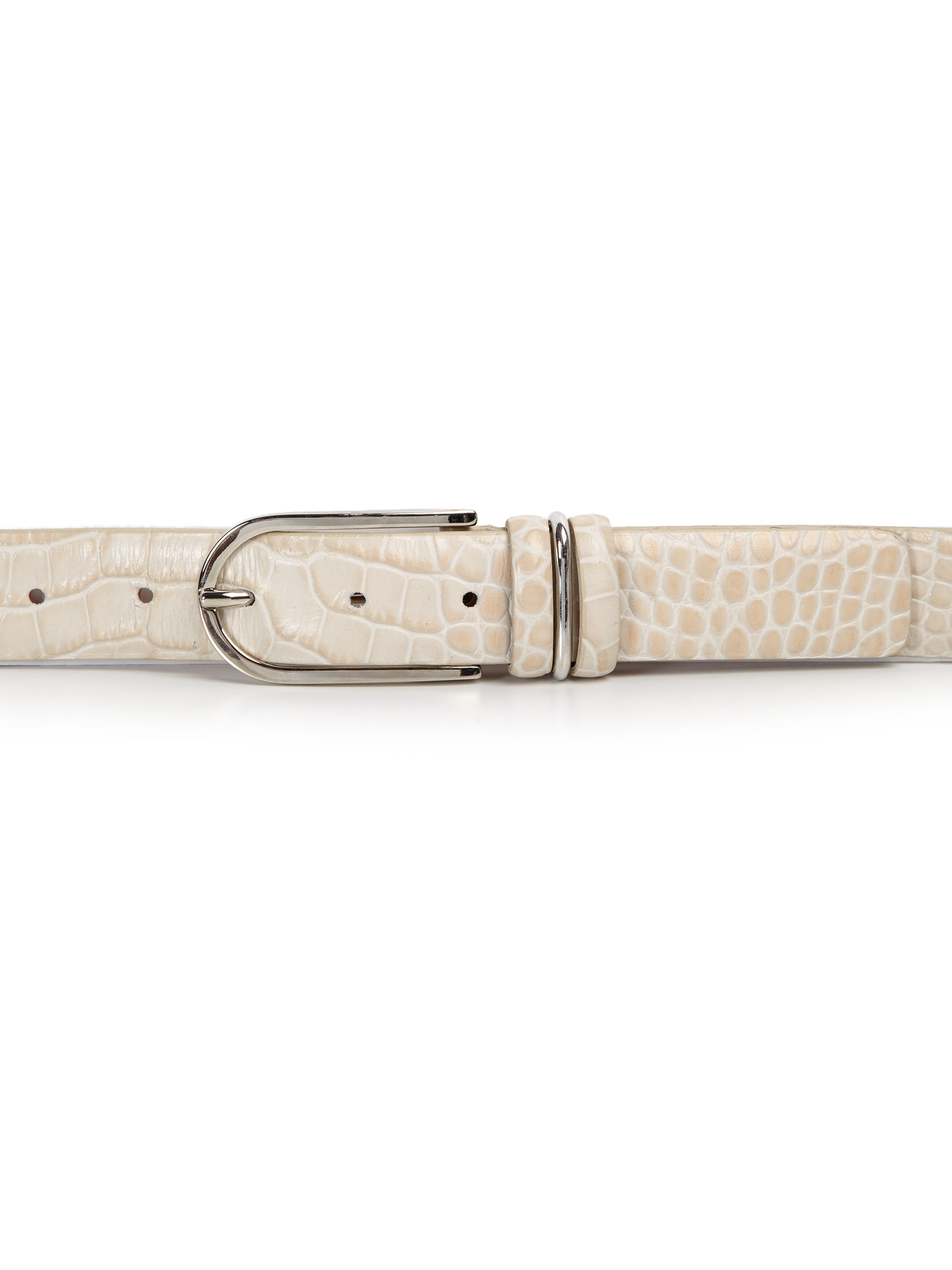 lafayette 148 new york embossed crocodile leather belt lyst