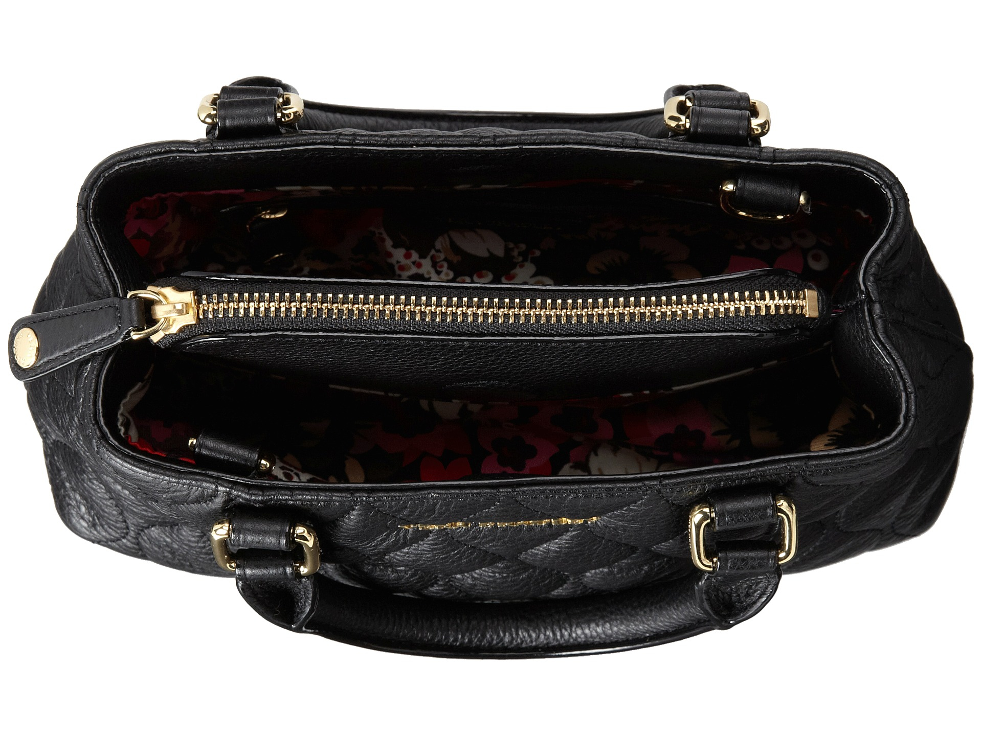 Vera Bradley Emerson Quilted Leather Convertible Cross Body Bag. Gallery.  Lyst Vera Bradley Quilted Emma Mini Crossbody In Black 638085d228c19
