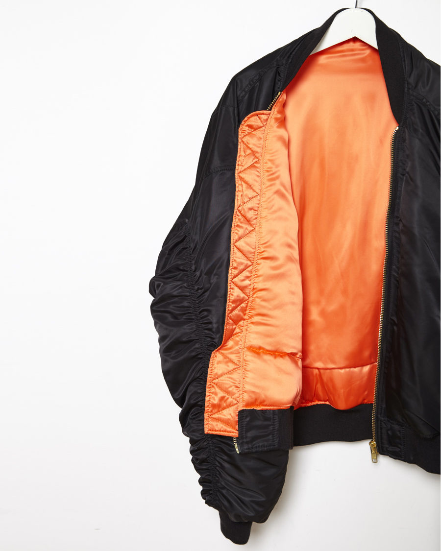 Lyst Vetements Vintage Flight Jacket In Black