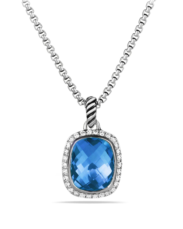 Lyst david yurman noblesse pendant with blue topaz and diamonds on gallery aloadofball Gallery
