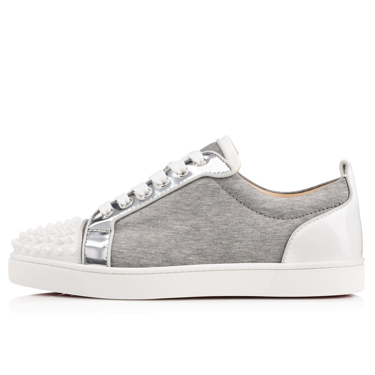 a4b97b2c619f Lyst - Christian Louboutin Louis Junior Spikes Mens Flat in Gray for Men